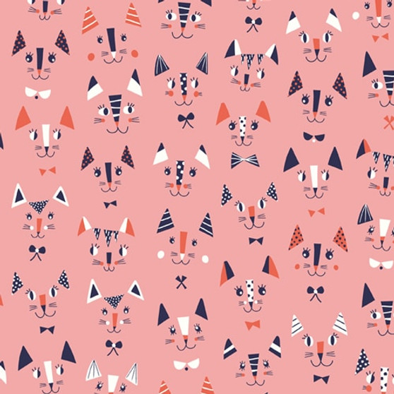 Cool for Cats by Dashwood Studio. 100% Cotton Fabric