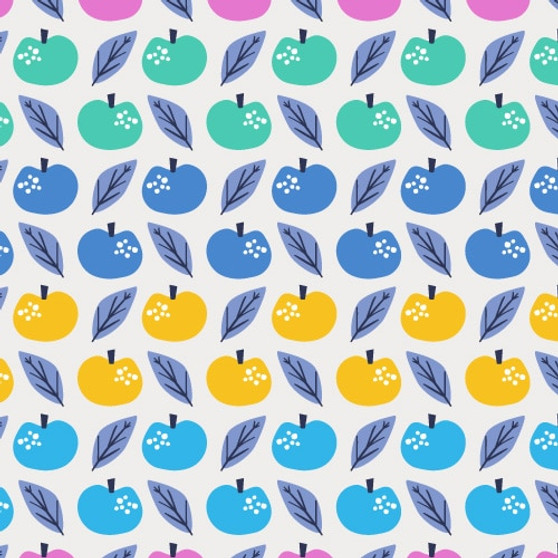 Apples Multi from the Lost Treasures collection by Dashwood Studio. 100% Cotton Fabric
