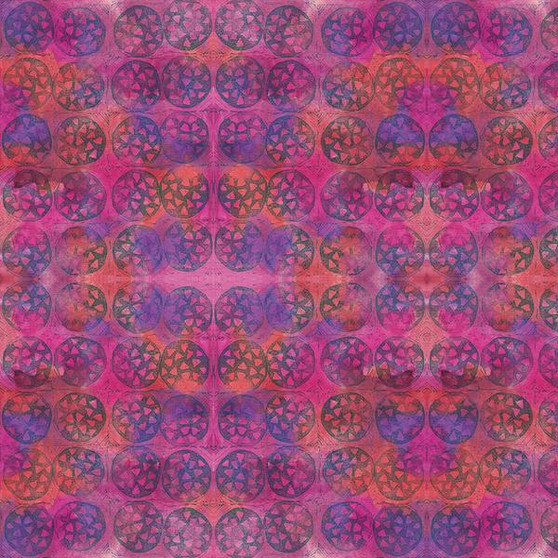 Circles Purple from the Indian Summer Collection by PBS Fabrics. 100% Cotton Fabric