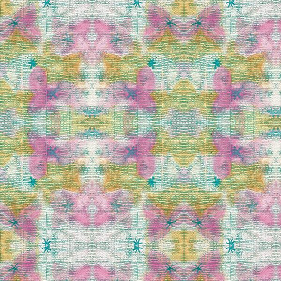 Stitched Multi from the Indian Summer Collection by PBS Fabrics. 100% Cotton Fabric