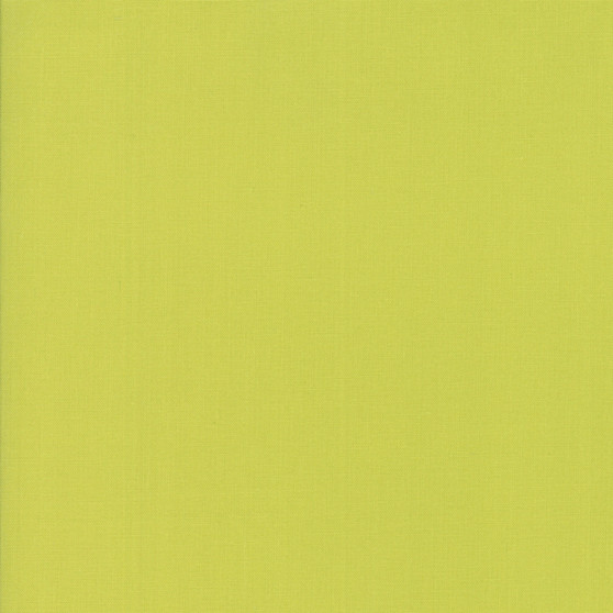 Chartreuse from the Bella Solids collection by Moda Fabrics. 100% Medium Weight Quilting Cotton.