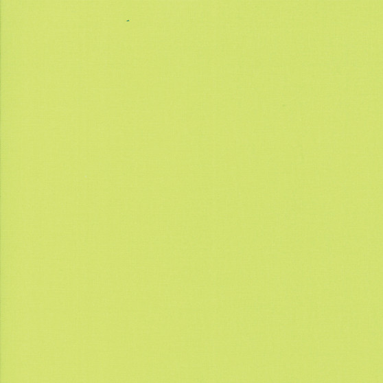 Key Lime from the Bella Solids collection by Moda Fabrics. 100% Medium Weight Quilting Cotton.