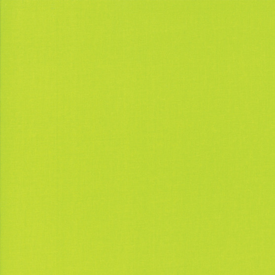Acid Green from the Bella Solids collection by Moda Fabrics. 100% Medium Weight Quilting Cotton.