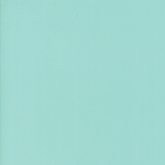 Aqua from the Bella Solids collection by Moda Fabrics. 100% Medium Weight Quilting Cotton.