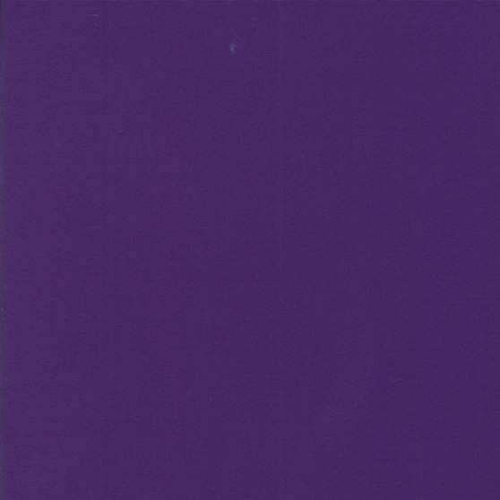 Purple from the Bella Solids collection by Moda Fabrics. 100% Medium Weight Quilting Cotton.