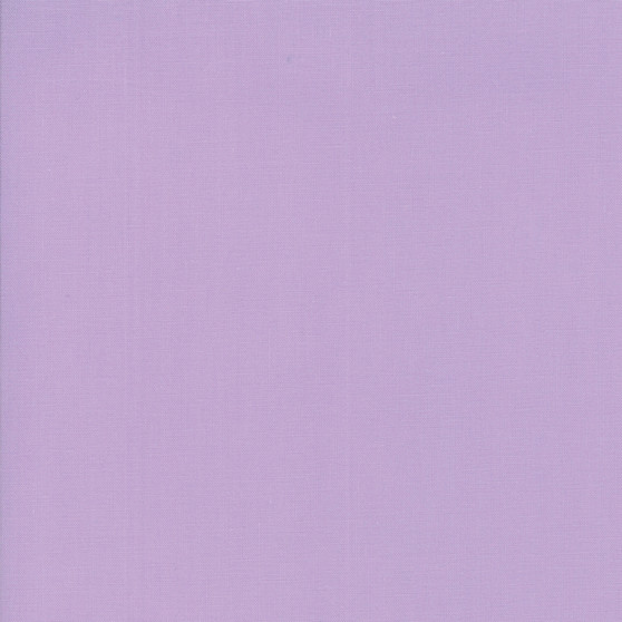 Lilac from the Bella Solids collection by Moda Fabrics. 100% Medium Weight Quilting Cotton.