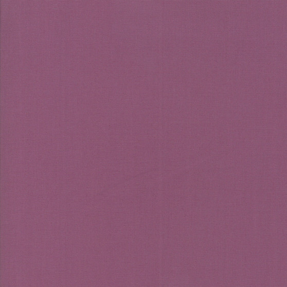 Plum from the Bella Solids collection by Moda Fabrics. 100% Medium Weight Quilting Cotton.