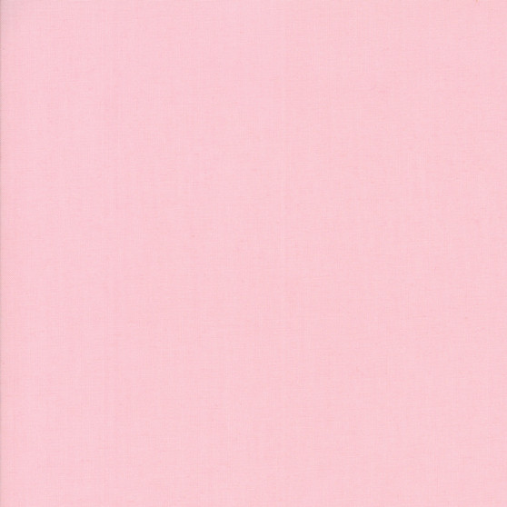 Sisters Pink from the Bella Solids collection by Moda Fabrics. 100% Medium Weight Quilting Cotton.