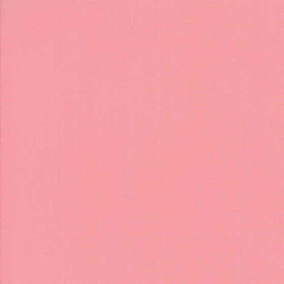 Pink from the Bella Solids collection by Moda Fabrics. 100% Medium Weight Quilting Cotton.