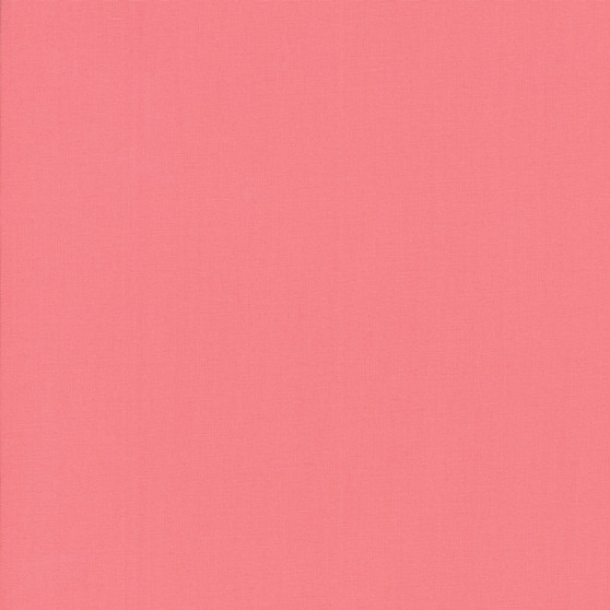 Tea Rose from the Bella Solids collection by Moda Fabrics. 100% Medium Weight Quilting Cotton.