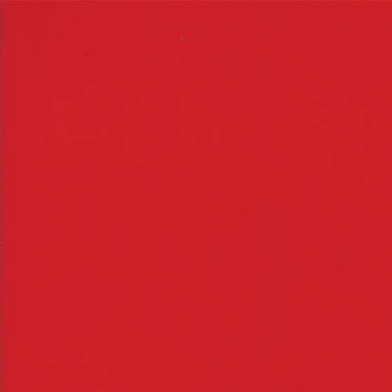 Christmas Red from the Bella Solids collection by Moda Fabrics. 100% Medium Weight Quilting Cotton.