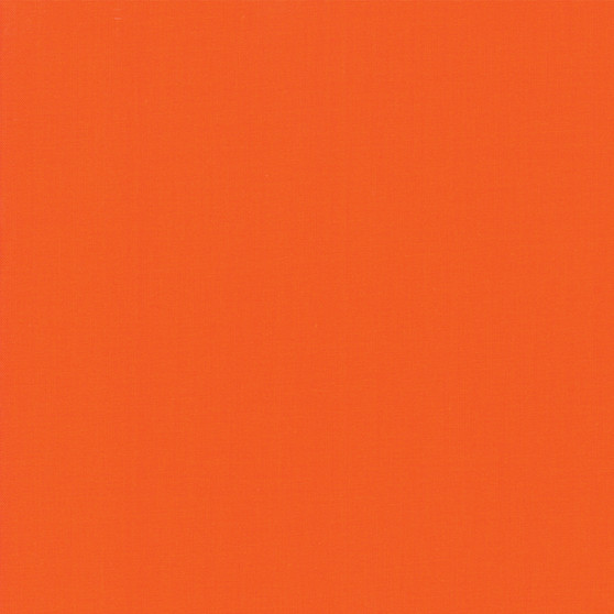 Tangerine from the Bella Solids collection by Moda Fabrics. 100% Medium Weight Quilting Cotton.
