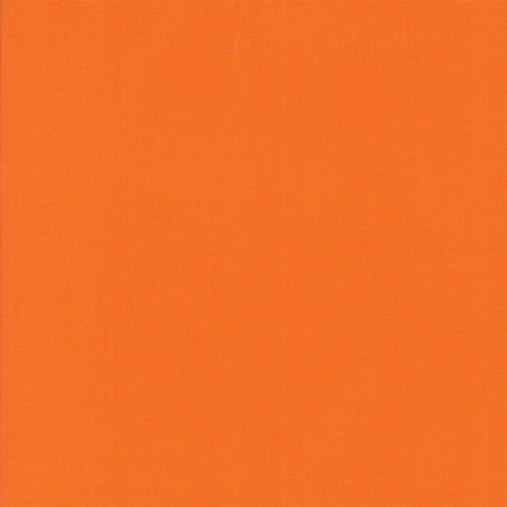 Orange from the Bella Solids collection by Moda Fabrics. 100% Medium Weight Quilting Cotton.