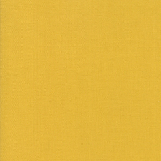 Mustard from the Bella Solids collection by Moda Fabrics. 100% Medium Weight Quilting Cotton.
