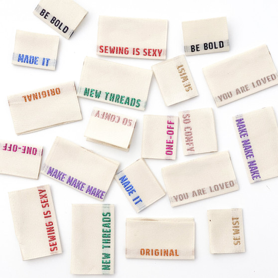 Metallic Multi Pack Sew-In Woven Clothes Label (Pack of 8) By Kylie and The Machine