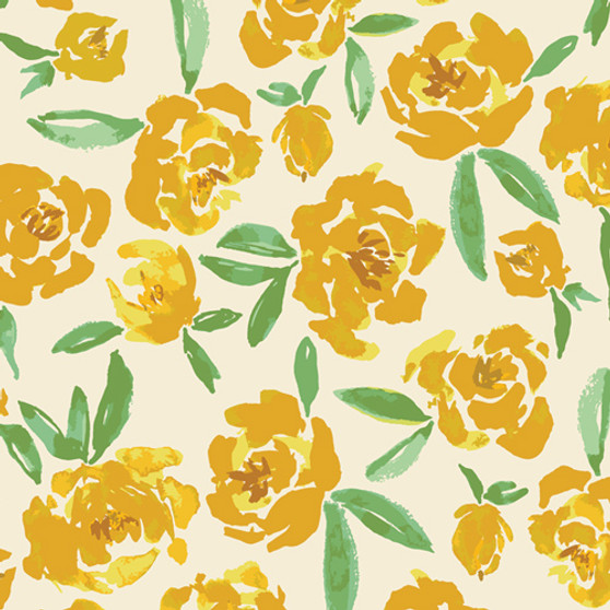 Fields of Goldenrod TOR-13860 from The Open Road collection designed by Bonnie Christine for Art Gallery Fabrics. 100% OEKO-TEX Certified Standard Cotton Fabric
