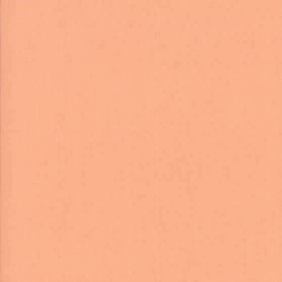 Peach from the Bella Solids collection by Moda Fabrics. 100% Medium Weight Quilting Cotton.