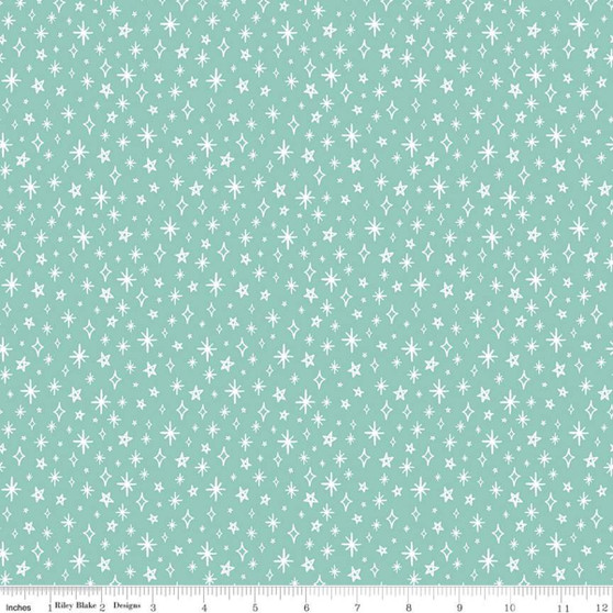 Sparkle Mint from the GRL PWR collection by Riley Blake Designs. 100% Lightweight Cotton