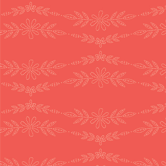 Embroidered Garland Peony from the Meriwether collection by Art Gallery Fabrics. 100% Cotton Fabric