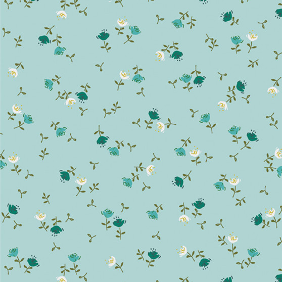 Olivia Celeste from the Velvet collection by Art Gallery Fabrics. 100% OEKO-TEX Certified Standard Cotton Fabric