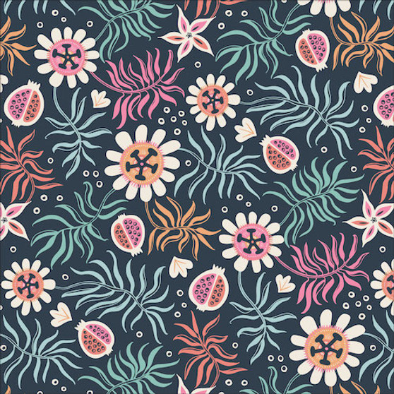 Tropical Garden from the Tropical Garden collection by Cloud 9 Fabrics. 100% Certified Organic Cotton Fabric.