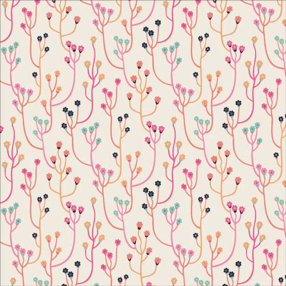 Upward from the Tropical Garden collection by Cloud 9 Fabrics. 100% Certified Organic Cotton Fabric.