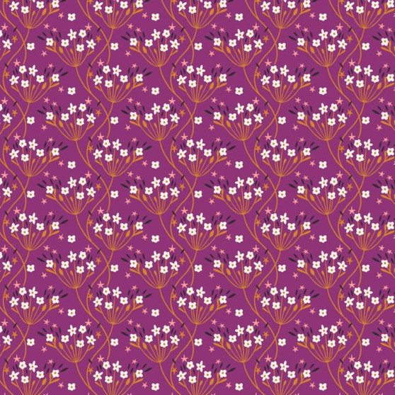 Flowers Pink from the Good Vibes collection by Dashwood Studio. 100% Cotton Fabric