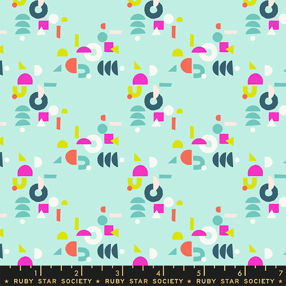 Puzzling Frost from the Adorn collection by Ruby Star Society. 100% Lightweight Cotton