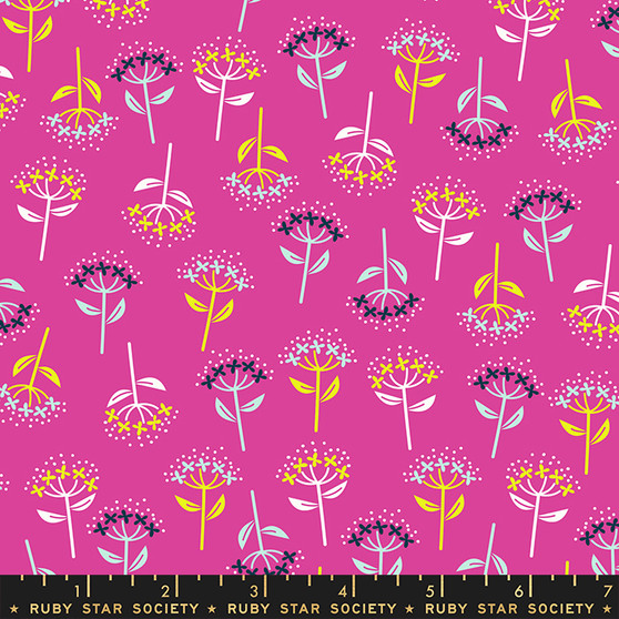 Bloom Berry from the Adorn collection by Ruby Star Society. 100% Lightweight Cotton