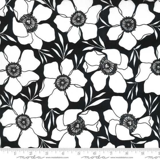 Moody Florals Ink from the Illustrations collection by Moda Fabrics. 100% Medium Weight Quilting Cotton.