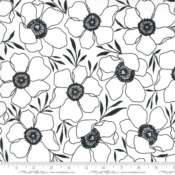 Moody Florals Paper from the Illustrations collection by Moda Fabrics. 100% Medium Weight Quilting Cotton.