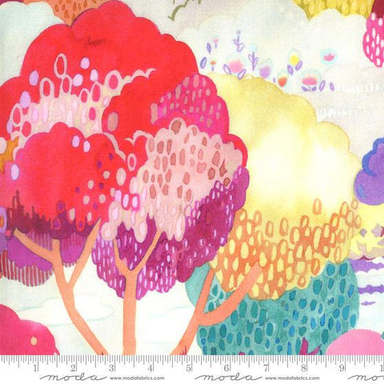Scenic Multi Petal from the Fanciful Forest collection by Moda Fabrics. 100% Medium Weight Quilting Cotton.