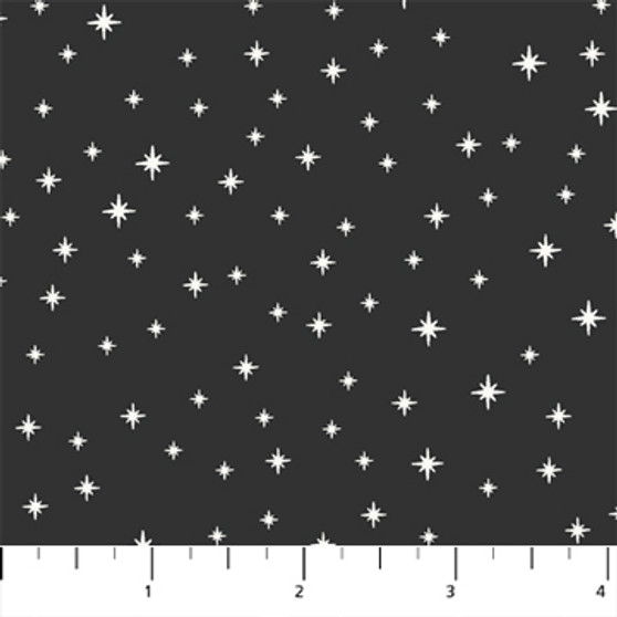 Twinkle Charcoal from the Peppermint collection by Figo Fabrics. 100% Cotton Fabric