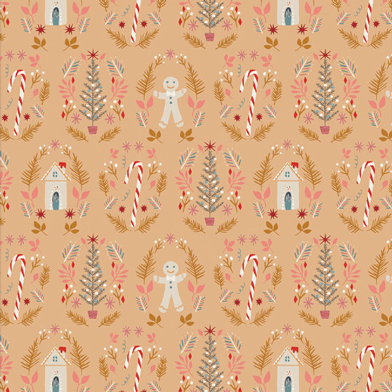 Ginger Joy Sweet from the Cozy and Magical collection by Art Gallery Fabrics. 100% OEKO-TEX Certified Standard Cotton Fabric