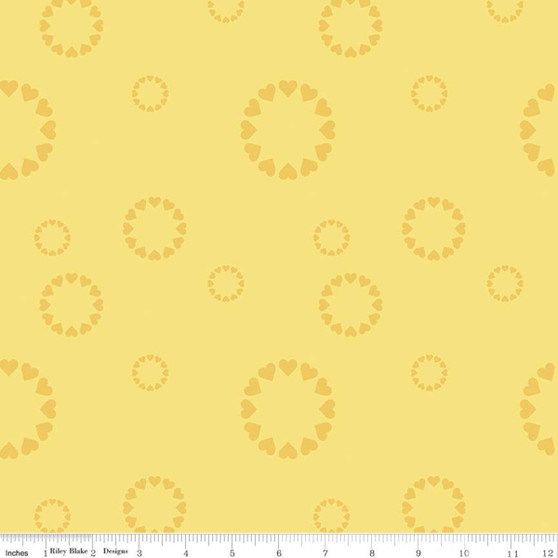 Heartfelt Yellow from the Dream collection by Riley Blake Designs. 100% Lightweight Cotton