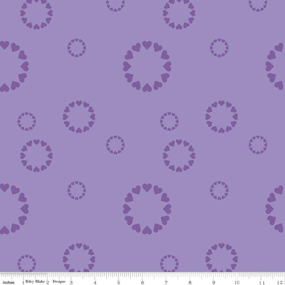 Heartfelt Purple from the Dream collection by Riley Blake Designs. 100% Lightweight Cotton