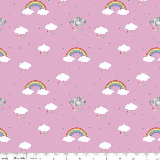 Dream in Colour Pink from the Dream collection by Riley Blake Designs. 100% Lightweight Cotton