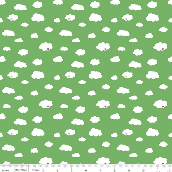 Drift Green from the Dream collection by Riley Blake Designs. 100% Lightweight Cotton