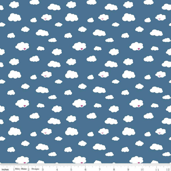 Drift Blue from the Dream collection by Riley Blake Designs. 100% Lightweight Cotton