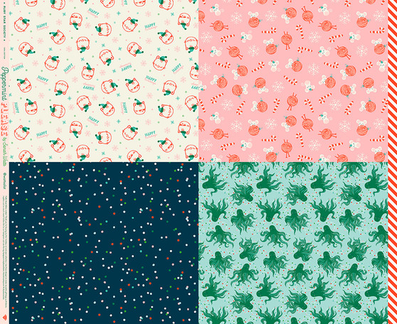 Wrap Panel from the Peppermint Please collection by Ruby Star Society. 100% Lightweight Cotton