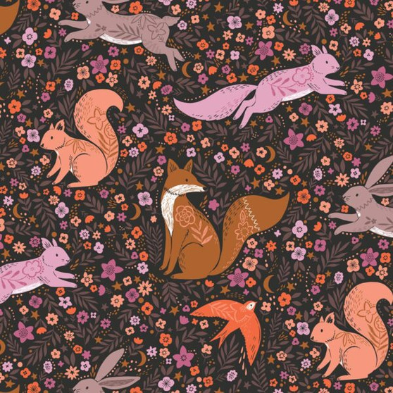Meadow Black from the Wild collection by Dashwood Studio. 100% Cotton Fabric