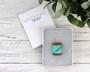 Pastel Mint Green Acrylic Cotton Spool Necklace