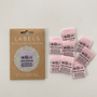 """""""Look After Me"""" Sew-In Tab Label (Pack of 8) By Kylie and The Machine"""