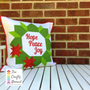 Christmas Joy Wreath Mini Quilt and Cushion Pattern by The Crafty Nomad Cushion