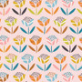 Flowers Pink from the Hanging Around collection by Dashwood Studio. 100% Cotton Fabric