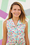 Sleeveless Top made of Waving Buds Candied from the Playing Pop collection by Art Gallery Fabrics. 100% Cotton Fabric