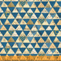 Collaged Triangles Peacock from the Wish collection by Windham Fabrics. 100% Cotton Fabric
