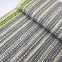 Stripes Silver from the Fabric Caravan collection by Kokka. Japanese Cotton/Linen Canvas.