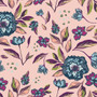 Enchanted Flora Ablush from the Mystical Land collection by Art Gallery Fabrics. 100% OEKO-TEX Certified Standard Cotton Fabric