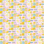 Geo Tiles White from the Retro Rove collection by Figo Fabrics. 100% Cotton Fabric